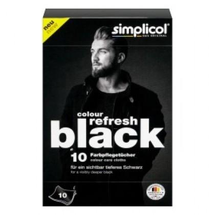 Салфетки Simplicol для восстановления черного цвета вещей 10шт