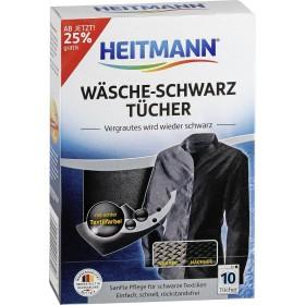 Салфетки для стирки и восстановления цвета черного текстиля Heitmann 10шт