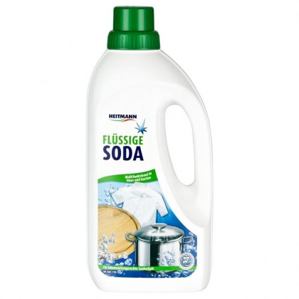 Жидкая сода Heitmann универсальное средство для уброки и стирки 1л