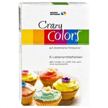 Красители пищевые порошковые Crazy Colors 6шт x  4г